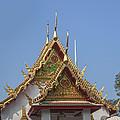 Wat Chumphon Nikayaram Phra Ubosot Gables Dtha0125 by Gerry Gantt