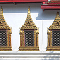 Wat Chumphon Nikayaram Phra Ubosot Windows Dtha0130 by Gerry Gantt