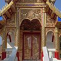 Wat Dok Eung Phra Ubosot Entrance Dthcm0353 by Gerry Gantt