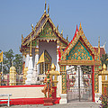Wat Kampaeng Phra Ubosot And Gate Dtha0142 by Gerry Gantt