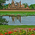 Wat Mahathat In13th Century Sukhothai Historical Park-thailand by Ruth Hager