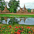 Wat Mahathat Reflection In 13th Century Sukhothai Historical Park-thailand by Ruth Hager