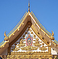 Wat Mongkol Kowitharam Ubosot Gable Dthu484 by Gerry Gantt