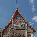 Wat Mongkol Nimit Ubosot Gable Dthp0589 by Gerry Gantt