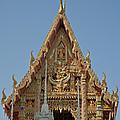 Wat Na Kwai Ubosot Front Gable Dthu161 by Gerry Gantt