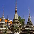 Wat Pho Chedis by Sally Weigand