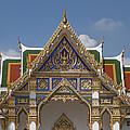 Wat Phrasri Mahathat Ubosot Gable Dthb1465 by Gerry Gantt
