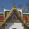 Wat Phrasri Mahathat Ubosot North Wing Gable Dthb1469 by Gerry Gantt