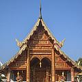 Wat Phuak Hong Phra Wihan Gable Dthcm0575 by Gerry Gantt