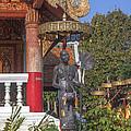Wat Phuak Hong Phra Wihan Monk Figure Dthcm0579 by Gerry Gantt