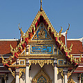 Wat Ratchaburana Ratchaworawiharn Family Hall Gable Dthb997 by Gerry Gantt