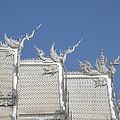Wat Rong Khun Ubosot Roof Chofa Dthcr0039 by Gerry Gantt