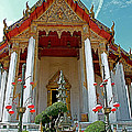 Wat Suthat In Bangkok-thailand by Ruth Hager