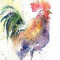Watchful Rooster by Christy Lemp