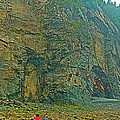 Watching Climbers From Ocean Floor At Cape Enrage-nb by Ruth Hager