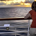Watching The Sunrise At Sea by Jason Politte