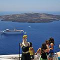 Watching The View In Santorini Island by George Atsametakis