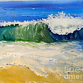 Watching The Wave As Come On The Beach by Pamela  Meredith
