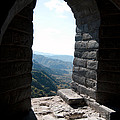 Watchtower Window View From The Great Wall 637 by Terri Winkler