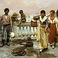 Water Carriers. Venice by Frank Duveneck