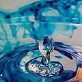 Water Drop In Blu by Andy Spliethof