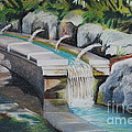 Water Fall In The Gratto by Joy Bradley
