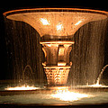 Water Fountain At Night by Shane Bechler