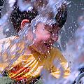 Water Fountain Joy Three by Robert J Sadler