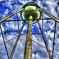 Mary Leila Cotton Mill Water Tower Art  by Reid Callaway