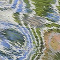 Water Ripples In Blue And Green by Lynn Hansen