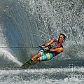 Water Skiing Magic Of Water 14 by Bob Christopher