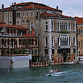 Water Taxi In Venice by Richard Booth