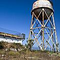 Water Tower Alcatraz Island by Jason O Watson
