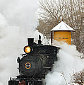 Water Tower Behind The Steam by Ken Smith