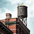 Water Tower In New York City - New York Water Tower 13 by Gary Heller