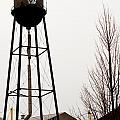 Water Tower In River Rouge by Steve Tracy