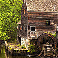 Water Wheel At Philipsburg Manor Mill House by Jerry Cowart