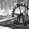 Water Wheel In Snow by Shirley Radabaugh
