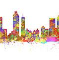Watercolor Art Print Of The Skyline Of Atlanta Georgia Usa by Chris Smith