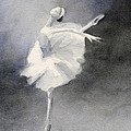 Watercolor Ballerina Painting by Beverly Brown