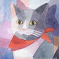 Watercolor Cat by Lutz Baar