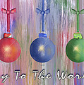 Watercolor Christmas Bulbs by Arline Wagner