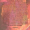 Watercolor Desiderata On Fuchsia Strokes by Desiderata Gallery