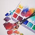 Watercolor Drops by Conni  Reinecke