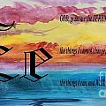 Watercolor E And Serenity Prayer by Barbara Griffin