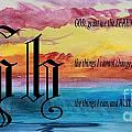 Watercolor H And Serenity Prayer by Barbara Griffin
