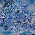 Watercolor - Icy Winter Landscape by Cascade Colors