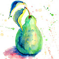 Watercolor Illustration Of Pear  by Regina Jershova