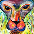 Watercolor Lion by Angela Murray