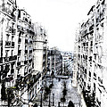 Watercolor Montmartre by Evie Carrier